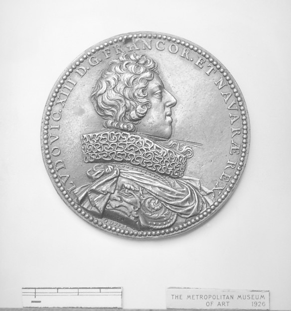Louis XIII, King of France (b. 1601, r. 1610–43), Medalist: Guillaume Dupré (French, 1579–1640), Bronze, French, Paris