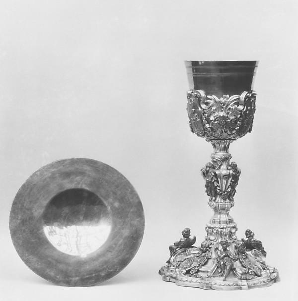 Chalice, Giuseppe Agricola (1745–1804), Silver, parcel gilt, Italian, Rome