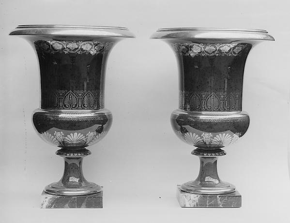 Pair of vases, Sèvres Manufactory (French, 1740–present), Hard-paste porcelain, French, Sèvres