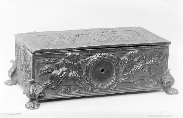 Box, Severo Calzetta da Ravenna (Italian, active by 1496, died before 1543), Bronze, probably Northern Italian, Padua