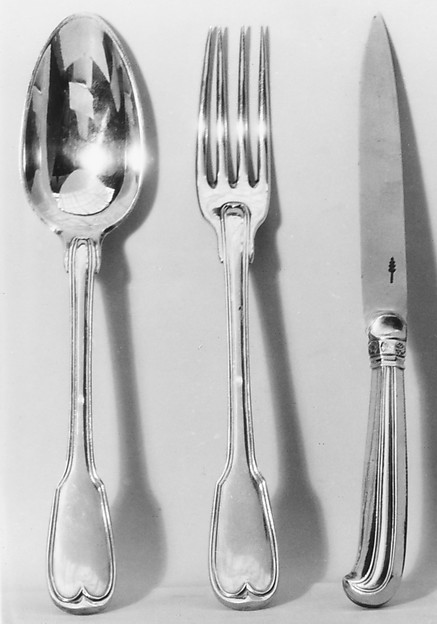 Spoon, Nicolas Collier (born 1733, master 1766, recorded 1793), Silver gilt, French, Paris
