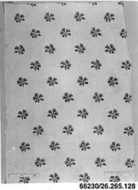 Floral print, Oberkampf Manufactory (French, active 1760–1843), Linen, French, Jouy-en-Josas