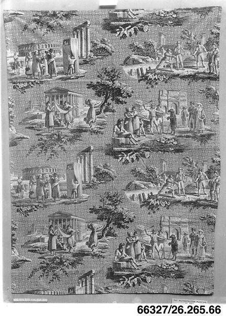 Midi de la France, Louis Hippolyte Lebas (French, 1782–1867), Cotton, French, Jouy-en-Josas