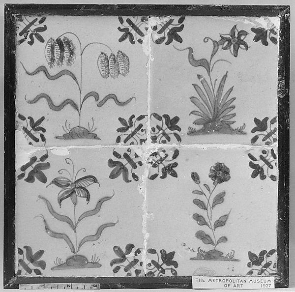 Tiles, Tin-glazed earthenware, Dutch