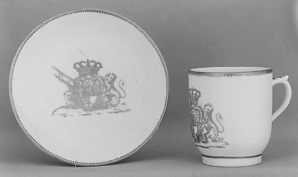 Cup and saucer, Vinovo Porcelain Manufactory, Hard-paste porcelain, Italian, Vinovo