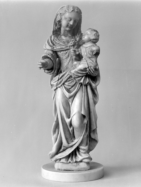 Madonna and Child, Ivory, Italian