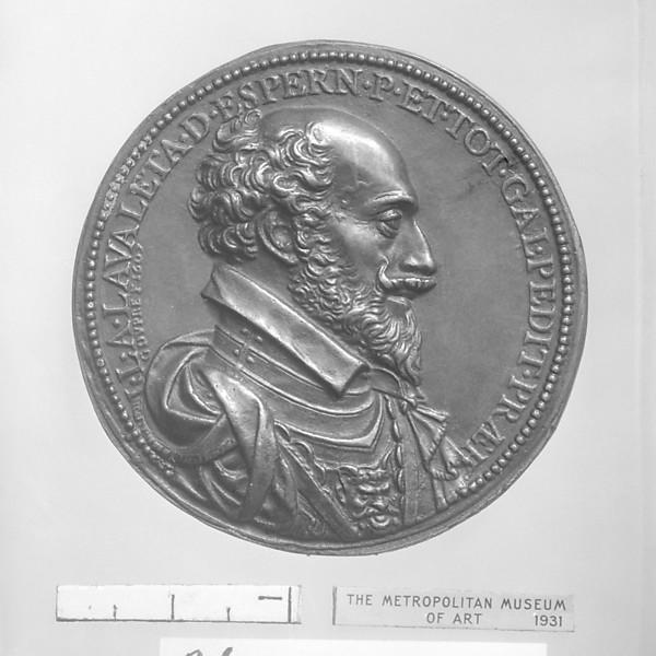 Jean-Louis de Nogaret de Lavalette, Duke of Épernon, colonel general of infantry (1554–1642), Medalist: Guillaume Dupré (French, 1579–1640), Bronze, brown patina, French, Paris