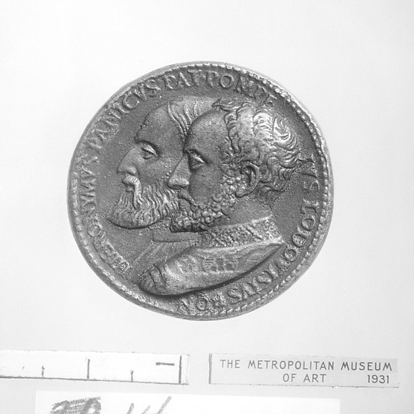 Hieronymus Panicus (d. 1558) and Lodovisius Bon (d. 1565), Medalist: Giovanni del Cavino (Italian, 1500–1570), Bronze, Italian, Padua