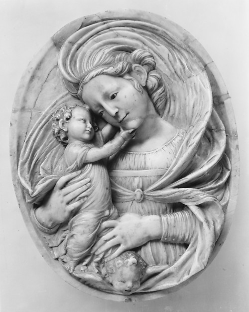 Madonna and Child, Possibly after a model by Diego de Siloé (ca. 1495–1563) or, Alabaster, traces of polychromy, Spanish, Burgos
