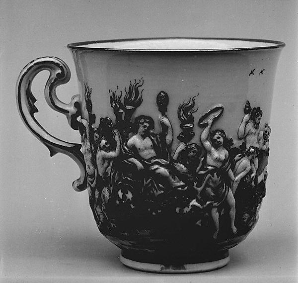 Coffee cup (part of a service), Doccia Porcelain Manufactory (Italian, 1737–1896), Hard-paste porcelain, Italian, Florence