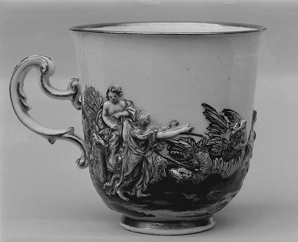 Coffee cup (part of a service), Doccia Porcelain Manufactory (Italian, 1737–1896), Hard-paste porcelain, Italian, Florence