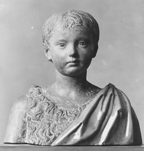 Boy Saint John, Giovanni della Robbia (Italian, Florence 1469–1529/30 Florence), Terracotta, enamelled and painted, Italian, Florence