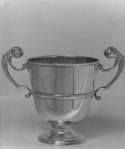 Two-handled cup, Probably by William Archdall, Silver, Irish, Dublin
