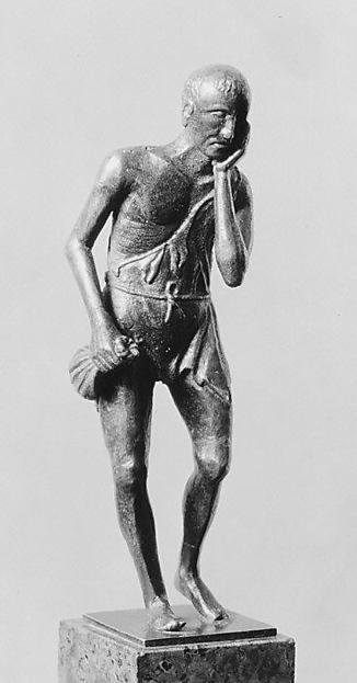 Man with a Toothache, Bronze, possibly Italian, Padua