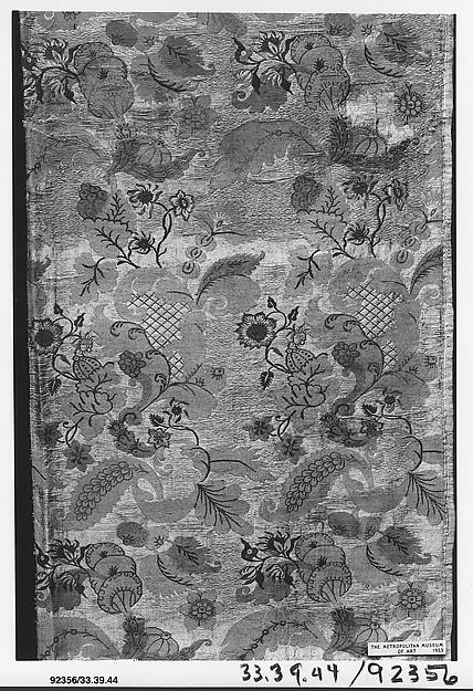 Piece, Silk and metal thread, Italian