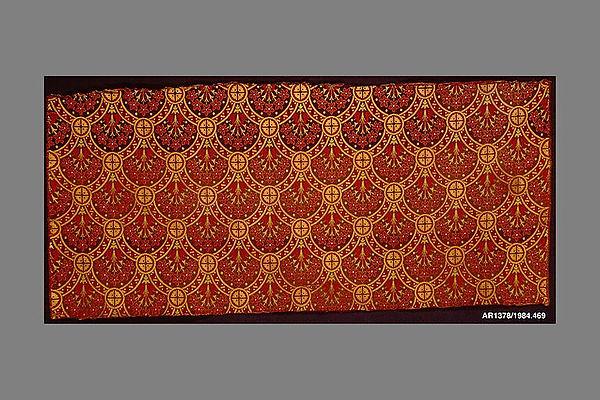 Length of woven wool and silk, Christopher Dresser (British, Glasgow, Scotland 1834–1904 Mulhouse), Wool, silk, British, Halifax