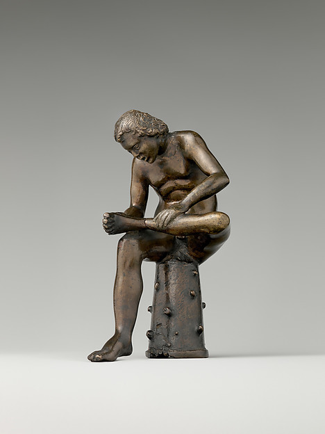 Spinario (Boy Pulling a Thorn from His Foot), Possibly workshop of Severo Calzetta da Ravenna (Italian, active by 1496, died before 1543), Bronze, Italian, Padua or Ravenna