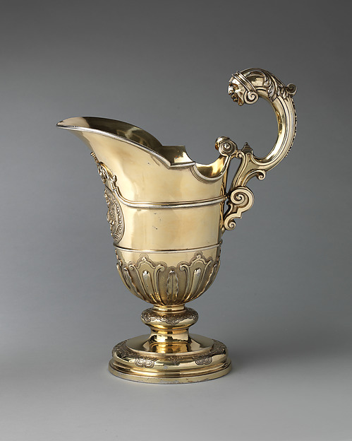 Ewer, Samuel Margas Jr. (British, active 1714–33), Silver gilt, British, London