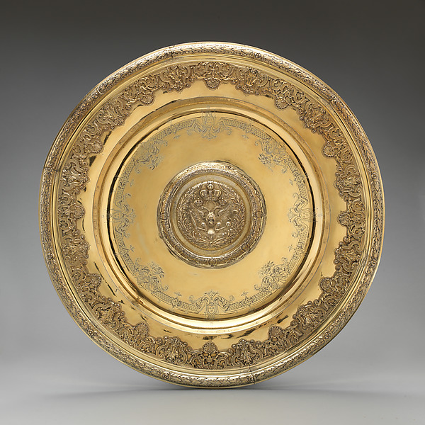Basin, Samuel Margas Jr. (British, active 1714–33), Silver gilt, British, London