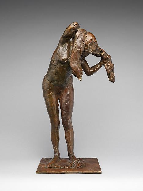 Woman Arranging her Hair, Edgar Degas (French, Paris 1834–1917 Paris), Bronze, French