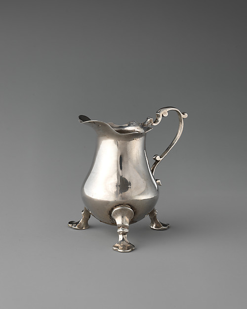 Miniature cream jug, Possibly by John Le Sage (British, active 1718–43), Silver, British, London