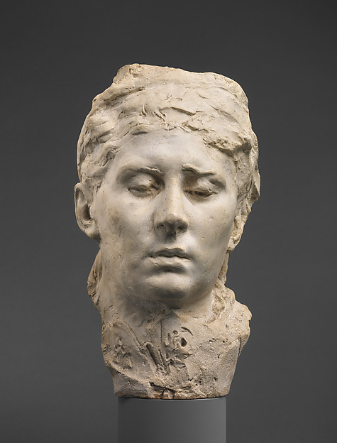 Mask of Rose Beuret, Auguste Rodin (French, Paris 1840–1917 Meudon), Cast plaster, French