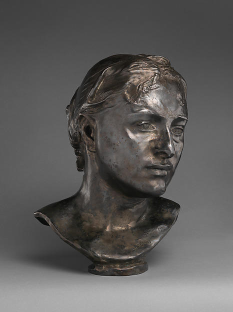 Mrs. Russell (Mariana Mattioco della Torre), Auguste Rodin (French, Paris 1840–1917 Meudon), Silvered bronze, black marble base, French