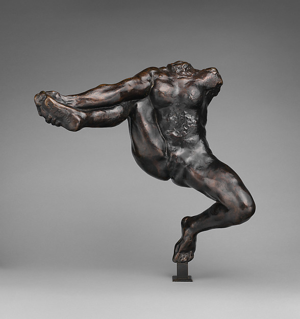 Iris, Messenger of the Gods, Auguste Rodin (French, Paris 1840–1917 Meudon), Bronze, black marble base, French