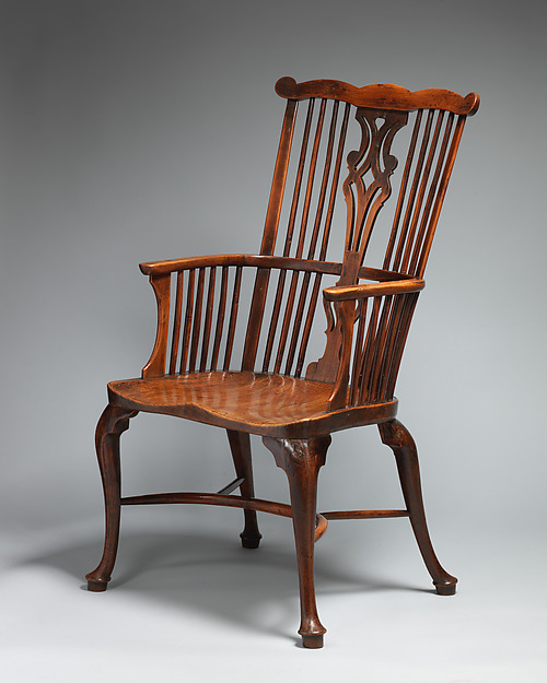 Comb Back Windsor Armchair, Yew And Elm Wood, British