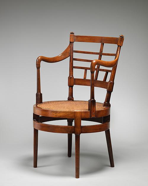 Armchair, After a design by Edward William Godwin (British, Bristol 1833–1886 London), Walnut, cane, British