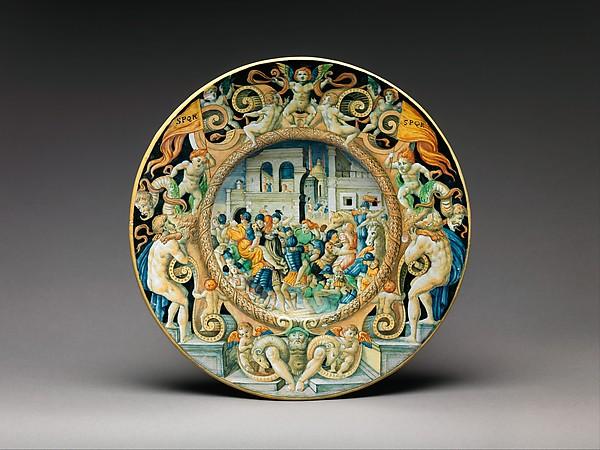Dish, Possibly by Ferruccio Mengaroni (Italian, 1876–1925), Maiolica (tin-glazed earthenware), Italian, Pesaro