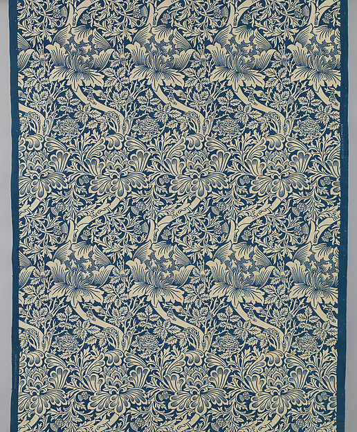 Rose and Thistle, Designed by William Morris (British, Walthamstow, London 1834–1896 Hammersmith, London), Cotton, British, Merton Abbey