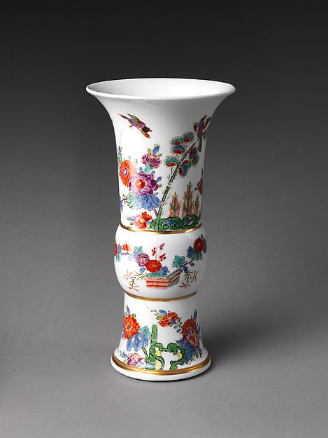 Vase with flowers and birds (one of a pair), Meissen Manufactory (German, 1710–present), Hard-paste porcelain painted with colored enamels under transparent glaze, German, Meissen