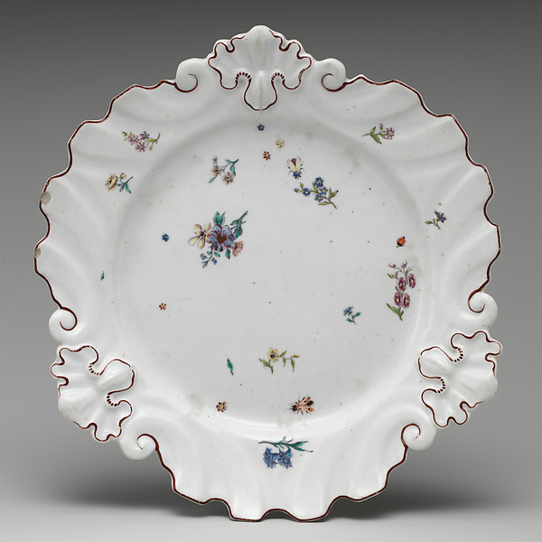 Plate, Chelsea Porcelain Manufactory (British, 1745–1784), Hard-paste porcelain, British, Chelsea