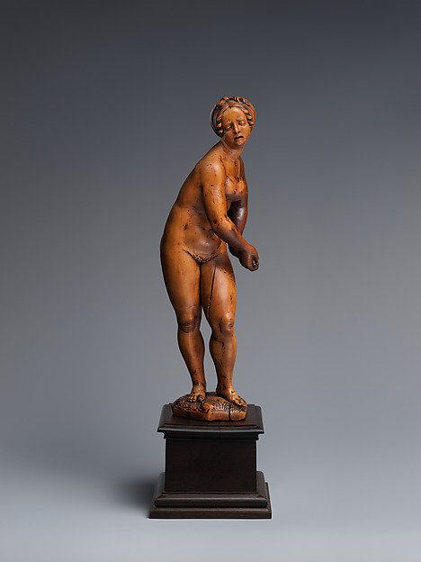 Lucretia, Circle of Conrad Meit of Worms (1480s–1550/51), Boxwood; pedestal: black wood, Flemish
