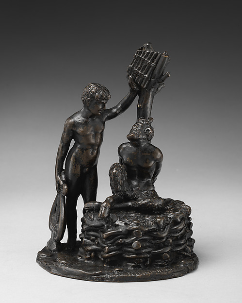 Apollo and Marsyas, Manner of Andrea Briosco, called Riccio (Italian, Trent 1470–1532 Padua), Bronze, Italian, Padua
