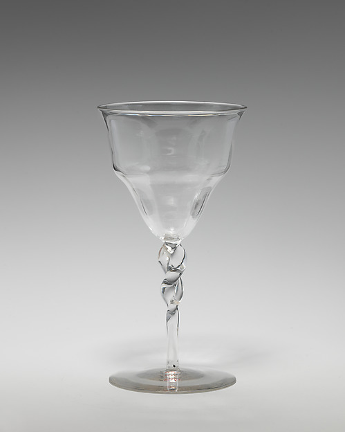 Wineglass (one of three), Attributed to Philip Webb (British, Oxford 1831–1915 West Sussex), Glass, British, London
