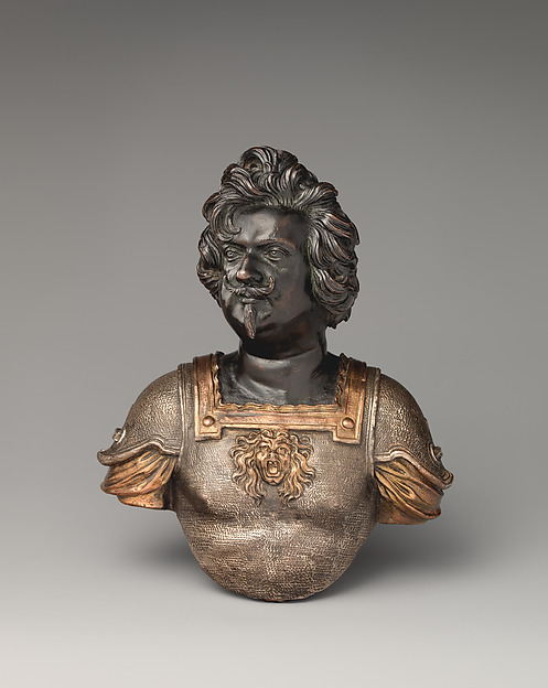 Paolo Giordano II Orsini, Duke of Bracciano, Johann Jakob Kornmann (called Cormano) (born Augsburg 1620, active Rome, died after 1672), Bronze, with dark brown lacquer patina, and gilded and silvered details, Italian, Rome