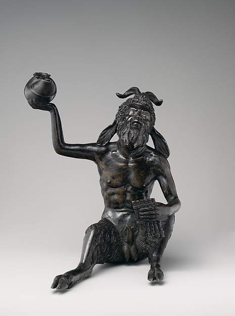 Seated Satyr, Andrea Briosco, called Riccio (Italian, Trent 1470–1532 Padua), Bronze, Italian, Padua