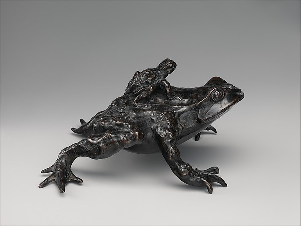 Toad with a Young Toad on its Back, Bronze, Italian, probably Padua