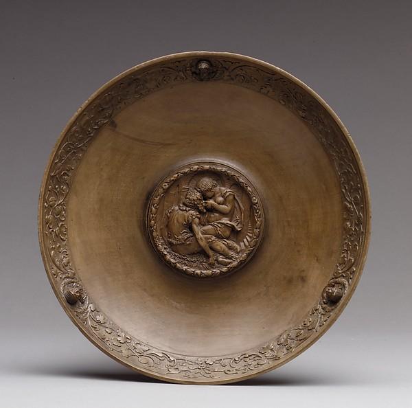 Bowl, Said to be based on a design by Sebald Beham (German, Nuremberg 1500–1550 Frankfurt), Boxwood and fruitwood, possibly Southern German, Nuremberg