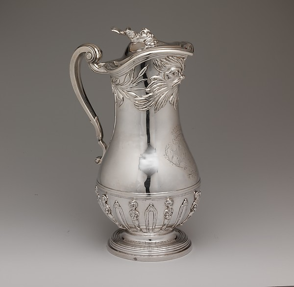 Ewer, Marc Bazille (1706–1777, master 1732), Silver, French, Montpellier