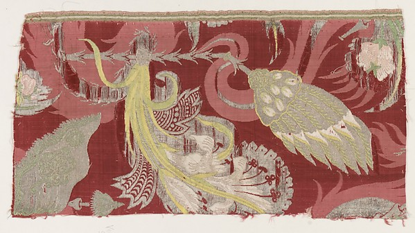 Fragment, Silk, metal thread, Italian, Venice