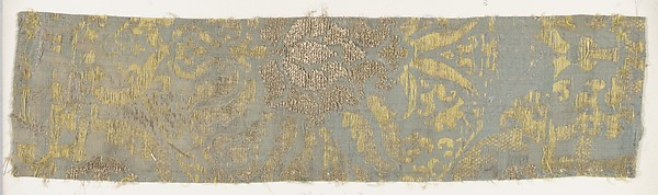 Fragment, Silk, metal thread, Italian, Venice
