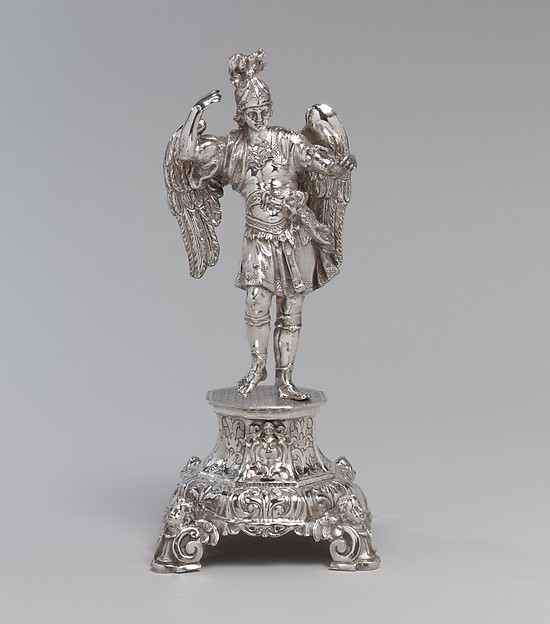 Saint Michael, Probably by Gaetano Fumo (active 1737–59), Silver, Italian, Naples