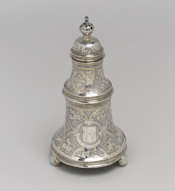 Bell-shaped salt, T. S., London (ca. 1600–1601), Silver gilt, British, London