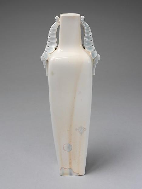 Vase, Alexandre Sandier (French, Beaune 1843–1916 Beaune), Hard-paste porcelain, French, Sèvres