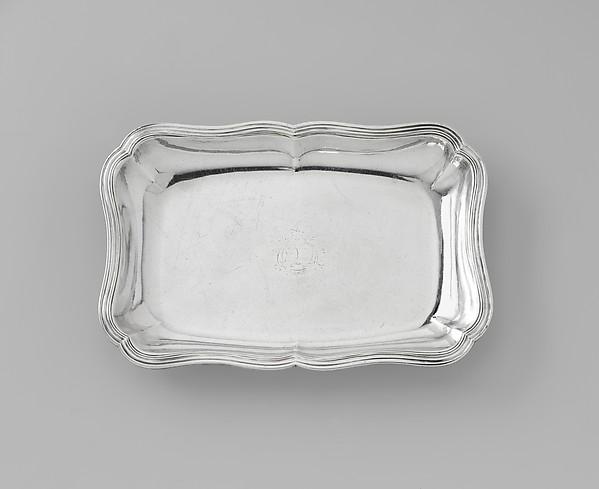 Dish, Gabrielle Bidard (widow of Claude Roysard, master 1753, mark disposed 1772), Silver, French, Rennes