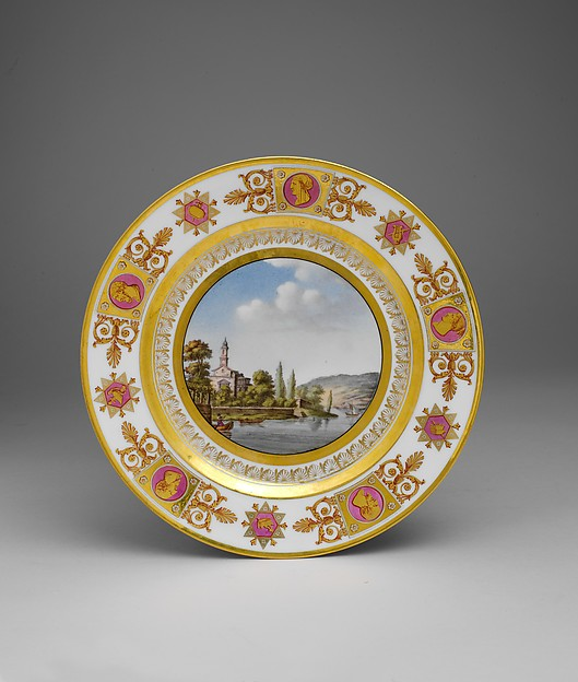 Lac de Lugano (from the Service des vues Suisses), Sèvres Manufactory (French, 1740–present), Hard-paste porcelain, French, Sèvres