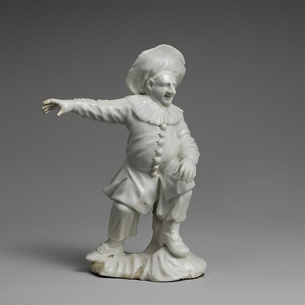 Pedrolino, Attributed to Cozzi manufactory (Italian, 1764–1812), Hard-paste porcelain, Italian, Venice